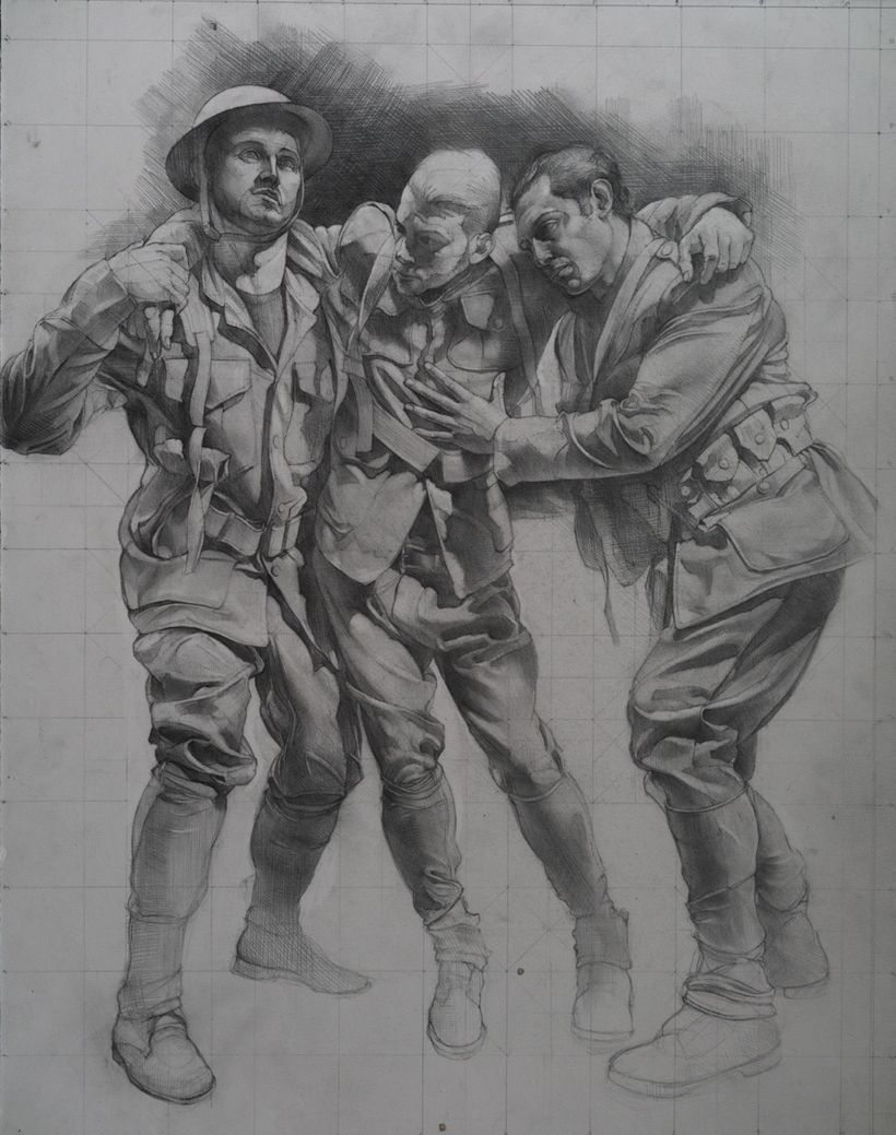 Sketch for World War I Memorial - Sabin Howard