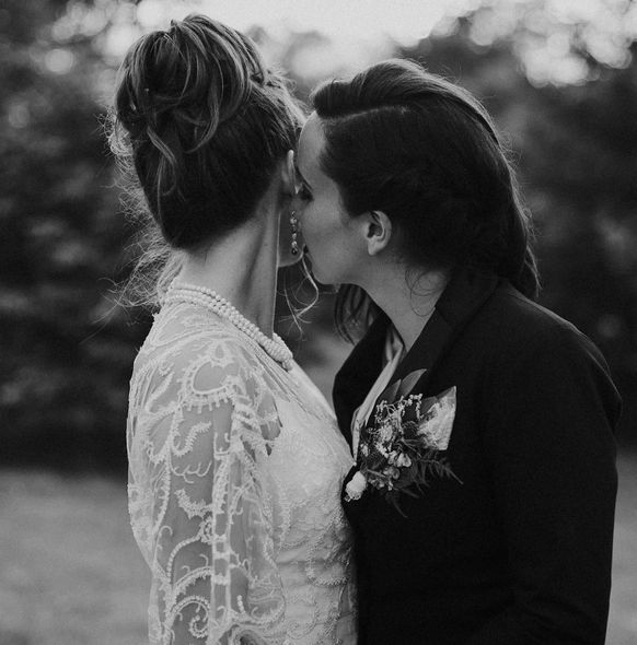 """""""The prettiest of brides. Honored to have captured Sarah and Jessica's forest wedding."""" --<i>Jessica Craven</i>"""