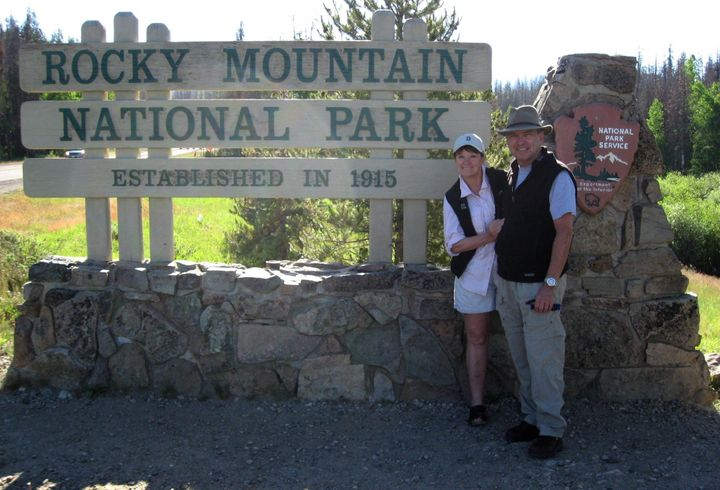 Mike and Donna challenged their friends and family to hike a national park too.The 185 people who accepted the challeng