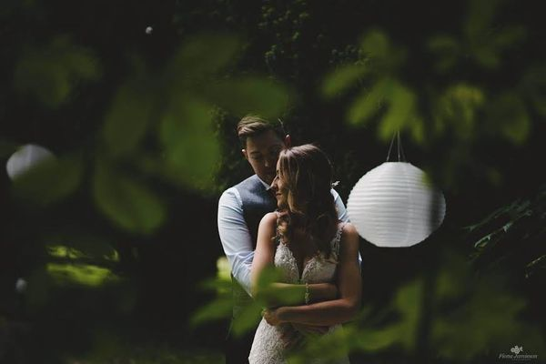 """""""Clodagh and Stephen got married yesterday at the beautify Drenagh Estate, in Northern Ireland."""" --<i>Fiona Jamieson</i"""
