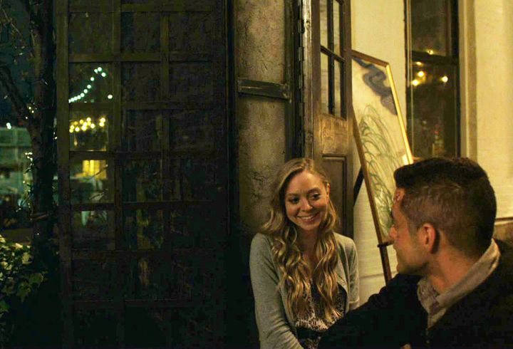 "Portia Doubleday, left, as Angela Moss and Rami Malek, right, as Elliot Alderson on ""Mr. Robot"" in Season 1, Episode 3, ""EPS1"