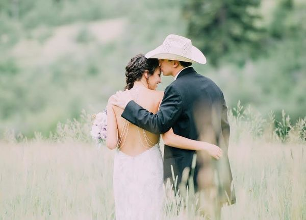 """""""Rashelle and Steven where married Saturday at his family ranch just outside of Bozeman, Montana."""" --<i>Fran Ze</i>"""