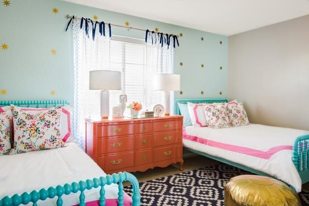 Deeper colors are called for in older children's rooms.