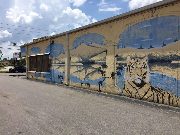 Nikki Mier, the manager of Fairvilla Intimacy Boutique in Orlando, doesn't know how the business became a Pokestop, but speculates this tiger on the outside was a factor.