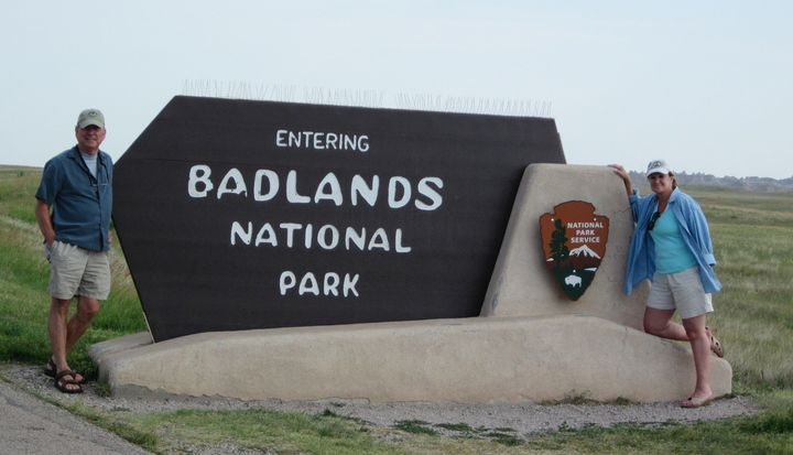 The Badlands National Park in South Dakota is just one of the 59 national parks Mike and Donna hiked over the past seven year
