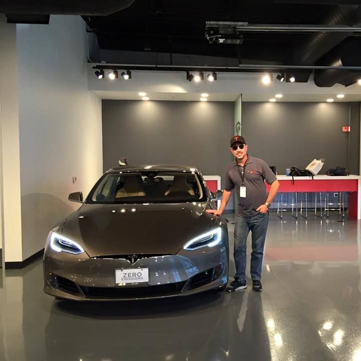 Taking delivery of my Model S at Tesla's Fremont factory after trading in a Chevy Volt.