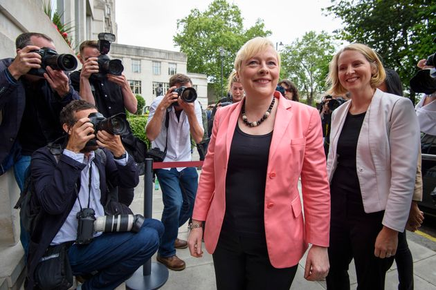 Angela Eagle attending a press conference at 2 Savoy Place in London, where she launched her bid to be...