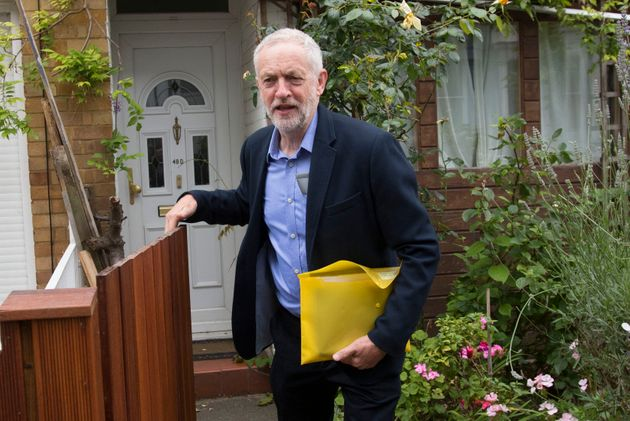 Labour Party leader Jeremy Corbyn leaves his home in north London, as Angela Eagle insisted she can save...