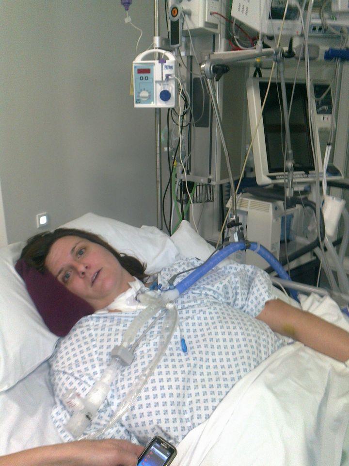 Caroline Hall in hospital
