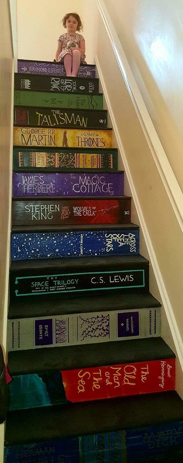 This DIY Staircase Is Every Book-Lover's