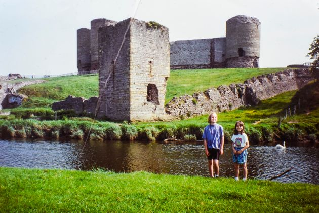 David Lonsdale took this picture of his daughters Sarah and Fiona at Rhuddlan Castle in Wales 26 years