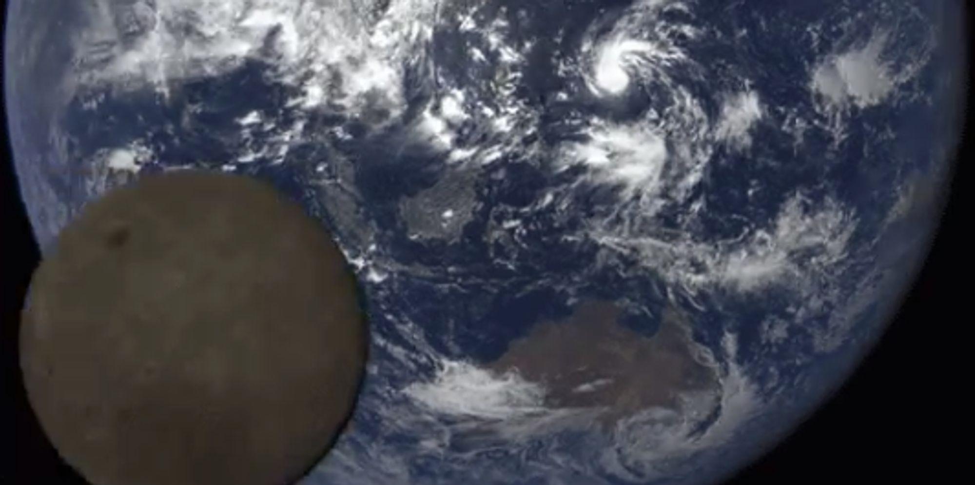 Watch The Moon Photobomb NASA's Spectacular Shot Of Earth
