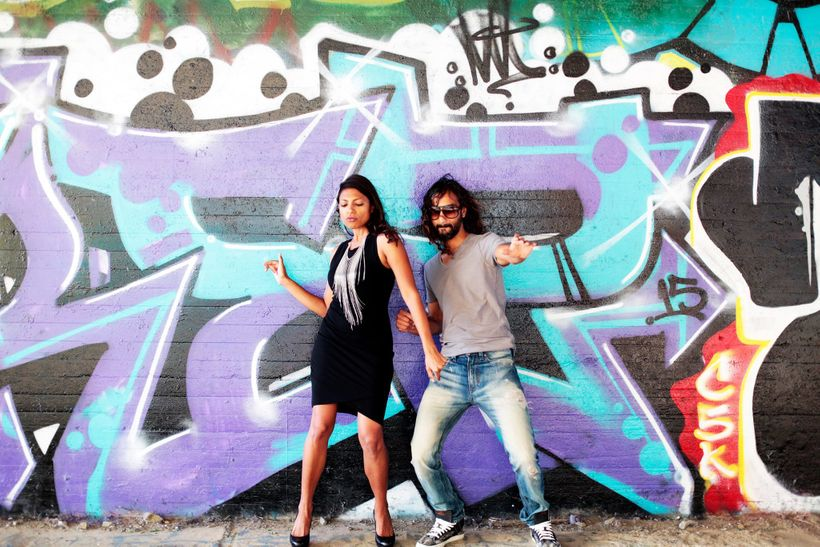 <i>Prerna and husband Parag in a light moment</i>