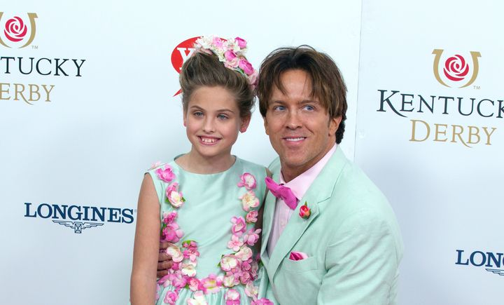 Dannielynn Birkhead and Larry Birkhead attend attends the 142nd Kentucky Derby at Churchill Downs on May 7, 2016 in Louisvill