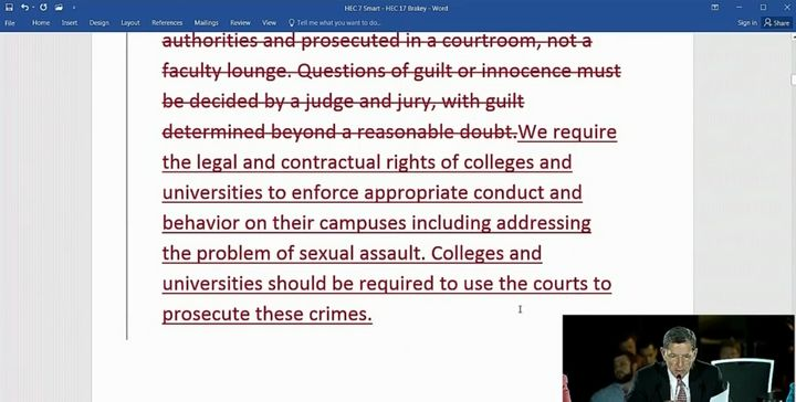 Bob Maginn of Massachusetts offered an amendment to make note of the right for colleges to have rules against sexual miscondu