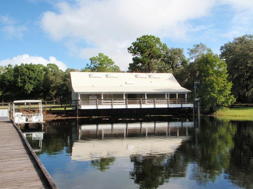 a dock atKissimmee State Park.