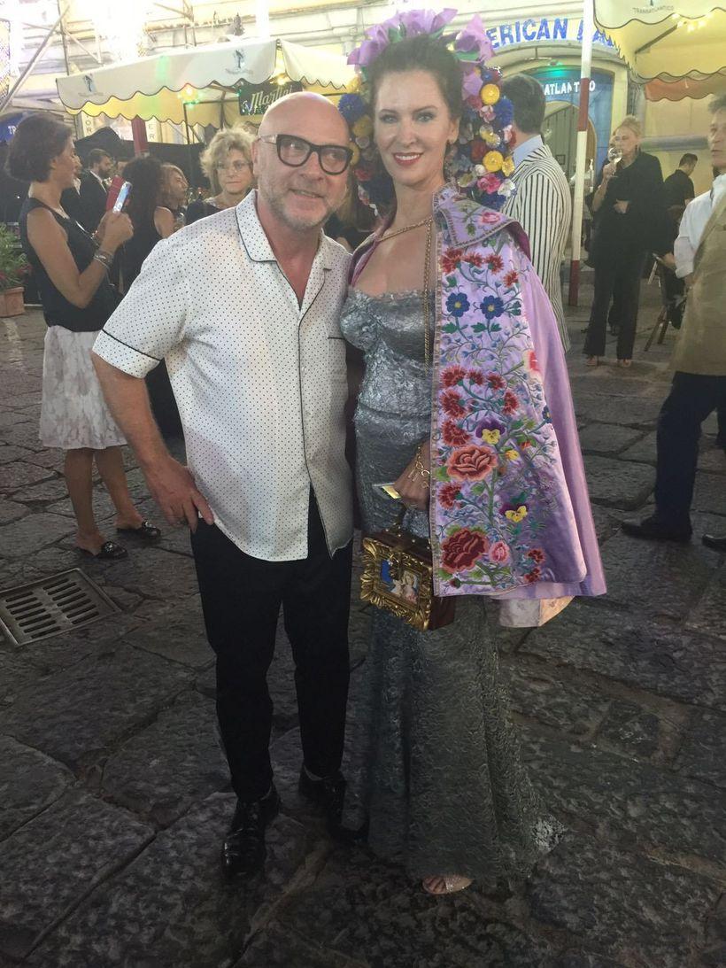 Designer Domenico Dolce and Leslie Zemeckis