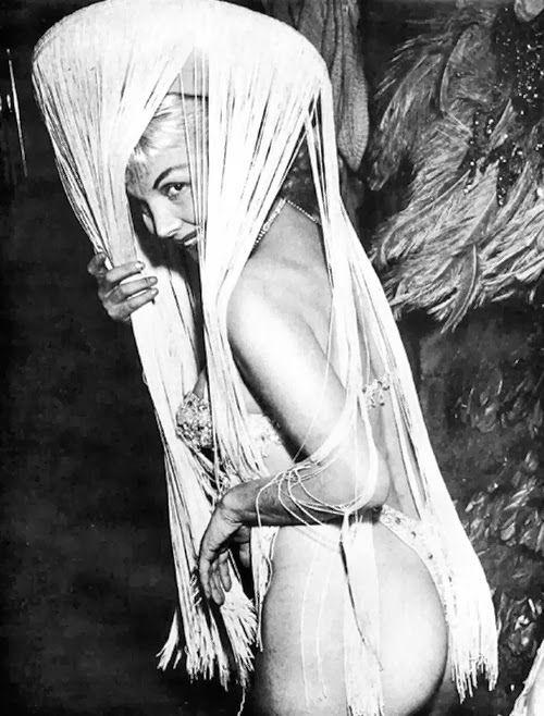 1950s stripper Bubbles Darlene. She often stripped to mambo music.