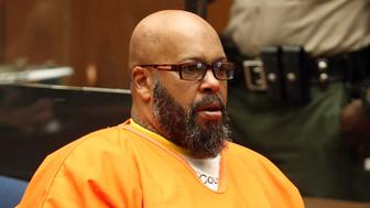 LOS ANGELES, CA - JANUARY 21: Marion 'Suge' Knight appears in Los Angeles court for a pretrial hearing at the Clara Shortridge Foltz Criminal Justice Center on January 21, 2016 in Los Angeles, California.  Knight is charged with robbery and criminal threats after allegedly stealing a photographer's camera during an incident September 5, 2014 in Beverly Hills.  (Photo by Frederick M. Brown/Getty Images)