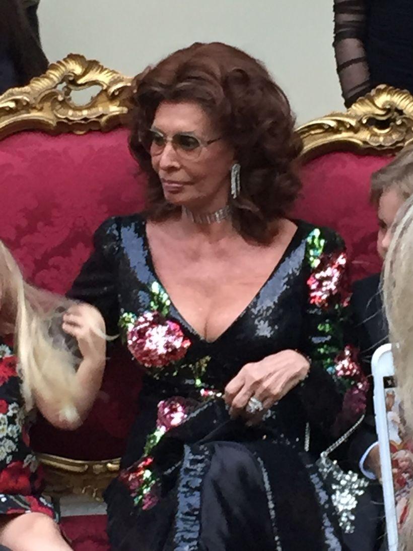 Sophia Loren, muse and honoree at Dolce & Gabbana Alta Moda, Naples.