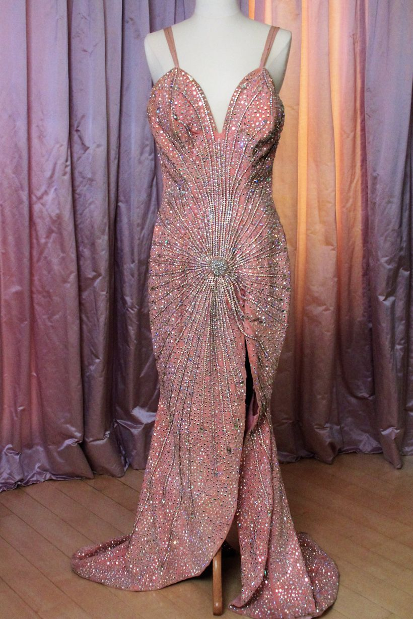 Gown hand-sewn and once worn by stripper Blaze Starr now in Zemeckis' collection.