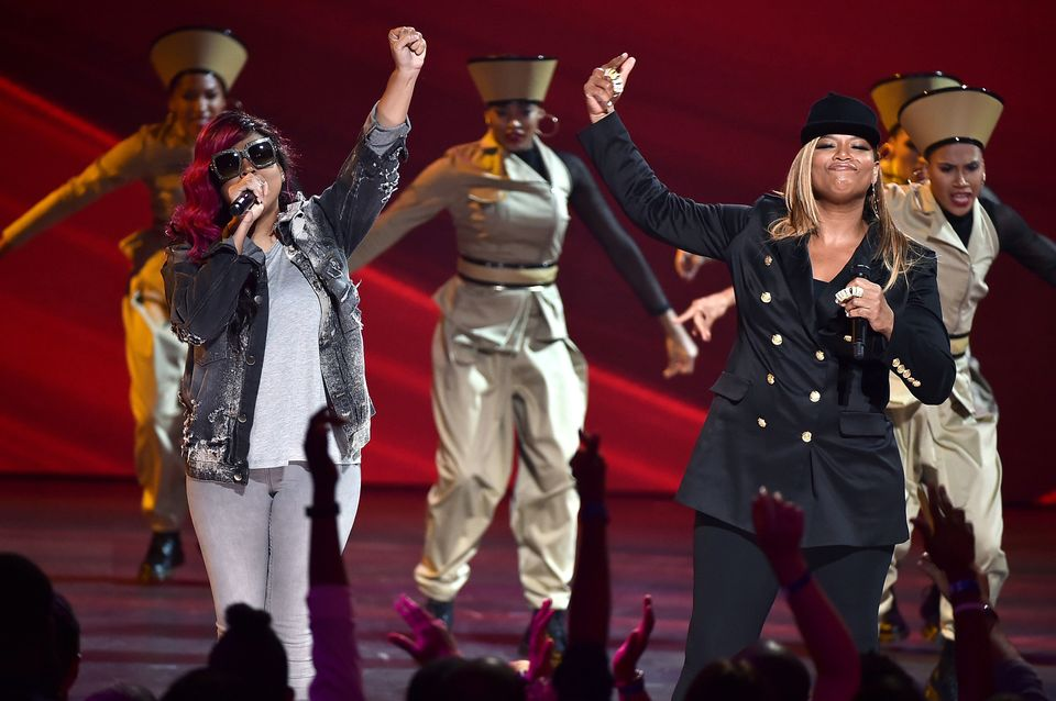 NEW YORK, NY - JULY 11:  Queen Latifah performs onstage during the VH1 Hip Hop Honors: All Hail The Queens at David Geffen Ha