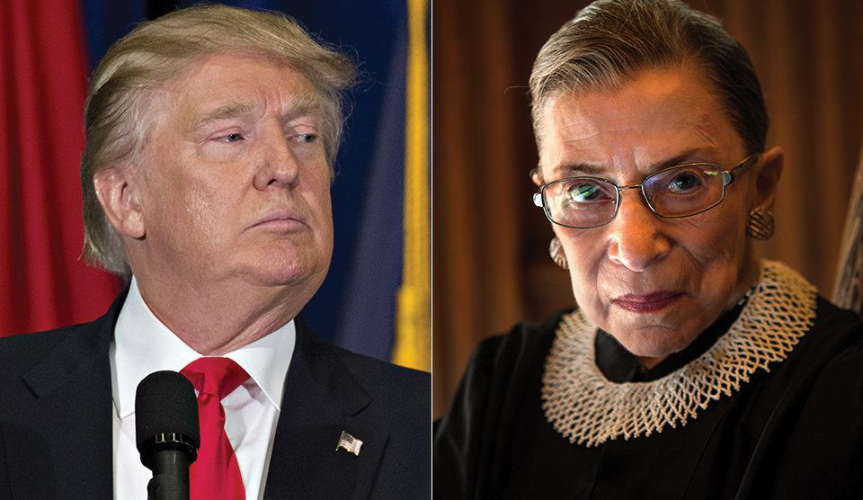 Image result for Trump and Ginsburg