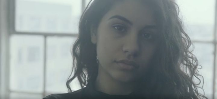 """Alessia Cara in her new music video """"Scars To Your Beautiful."""""""