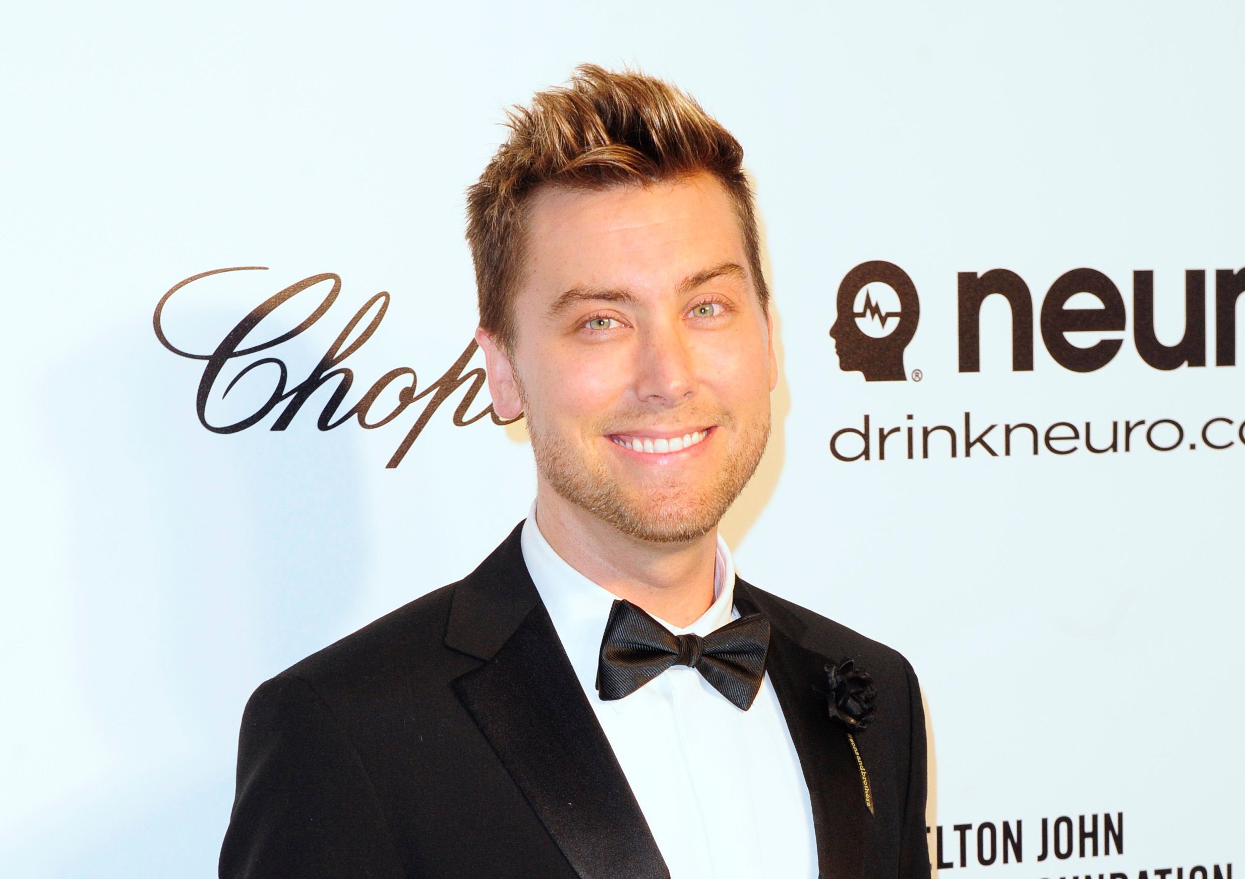 Pop singer Lance Bass arrives at the 2014 Elton John AIDS Foundation Oscar Party in West Hollywood, California March 2, 2014. REUTERS/Gus Ruelas (UNITED STATES TAGS: ENTERTAINMENT) (OSCARS-PARTIES)