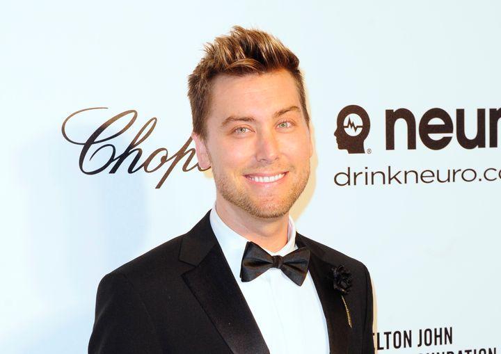 Lance Bassat the 2014 Elton John AIDS Foundation Oscar Party in West Hollywood, California.