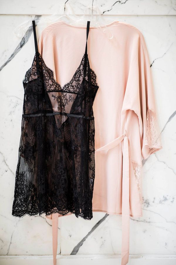 "The outfit that kept Michelle home all Saturday morning. <a href=""http://www.journelle.com/loungewear/chemises/journelle-vanessa-chemise/JOU-406-06.html"" target=""_blank"">Journelle Vanessa Chemise</a>, $165, and&nbsp;<a href=""http://www.journelle.com/loungewear/robes/only-hearts-cassie-kimono/ONL-70024.html"" target=""_blank"">Only Hearts Cassie Kimono</a>, $165"