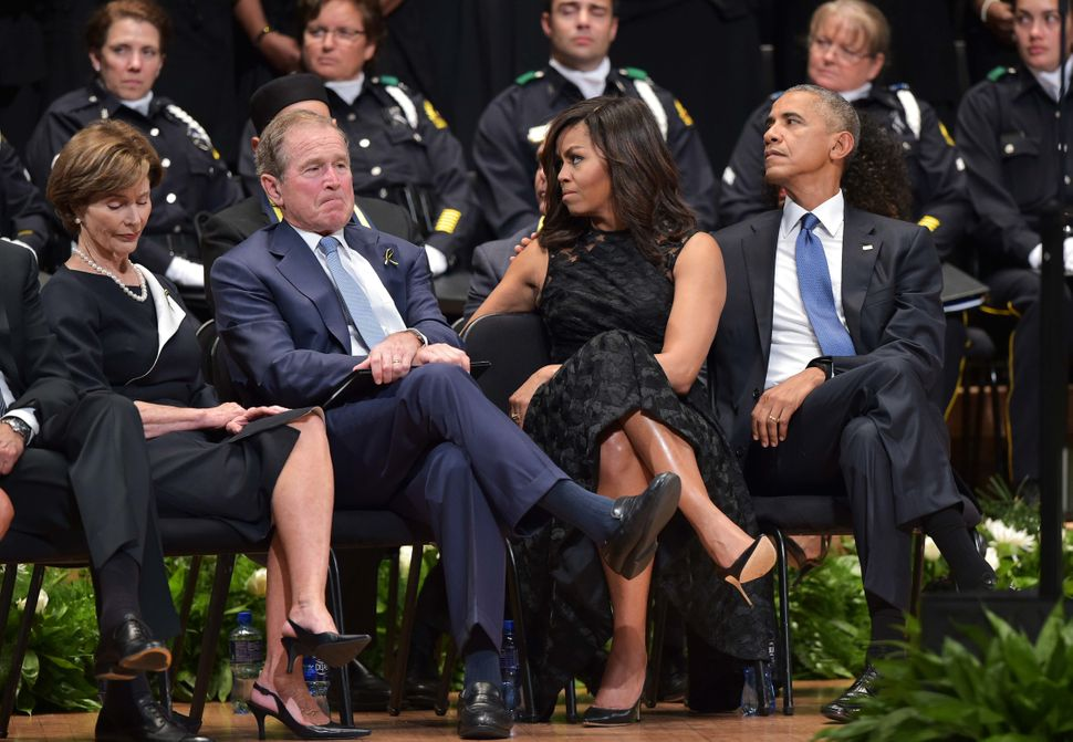 President Barack Obama and first lady Michelle Obama attended as well.