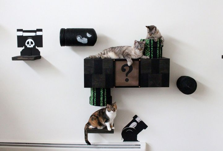"""<a href=""""http://www.catastrophicreations.com/product/mario-cat-complex-2-0/"""" target=""""_blank"""">Mario Cat Complex, $300.00</a>"""