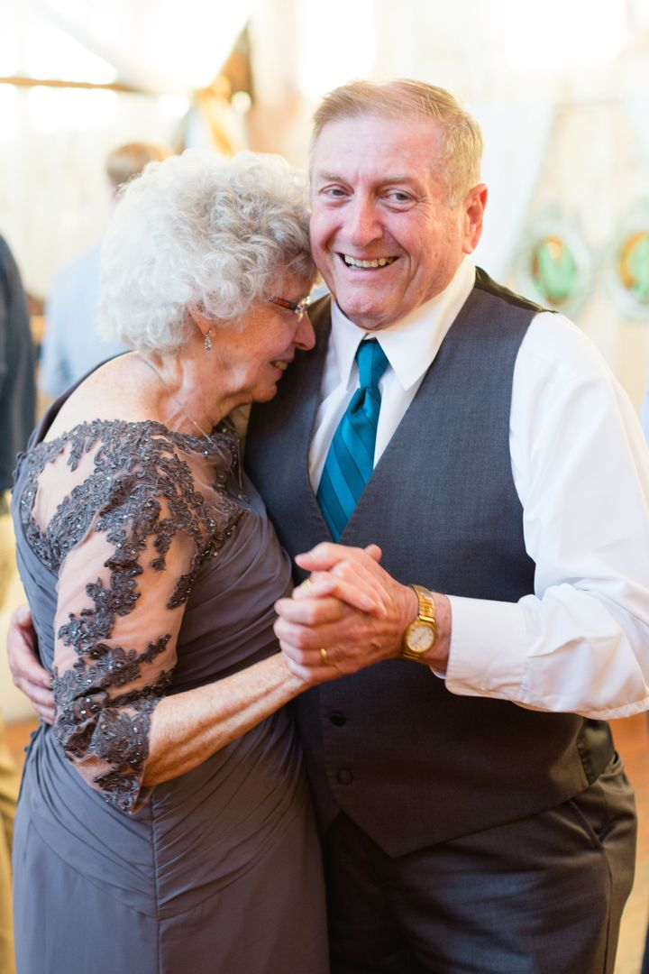 The bride's grandparents Joyce and Ronald Sr. have been married for 56 years.