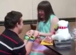 Woman With Down Syndrome Has The Best Reaction To Her BF's Proposal