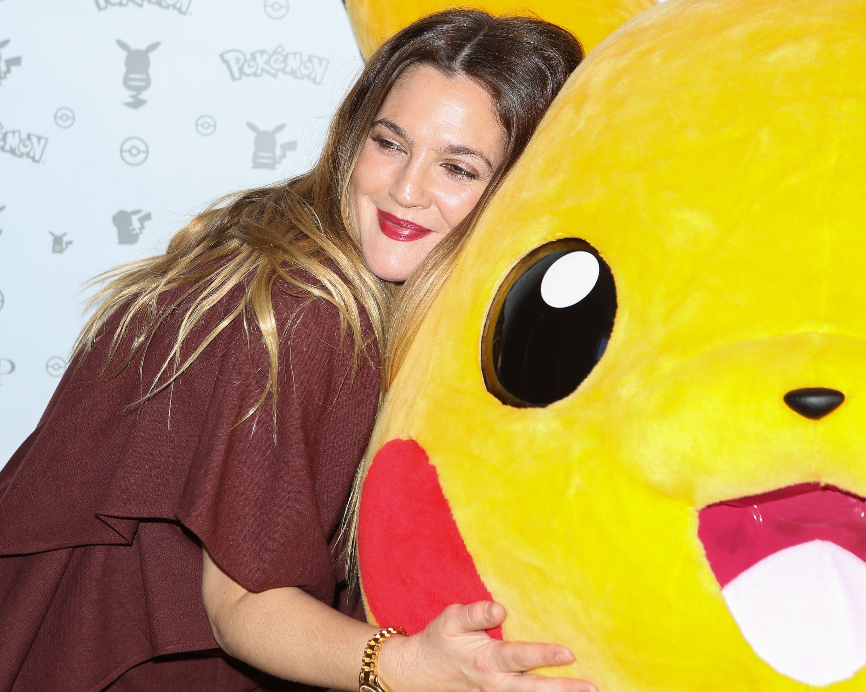 WEST HOLLYWOOD, CA - FEBRUARY 27:  Actress Drew Barrymore attends the Pokemon Afternoon Soiree at The Sunset Tower Hotel on February 27, 2016 in West Hollywood, California.  (Photo by Paul Archuleta/FilmMagic)