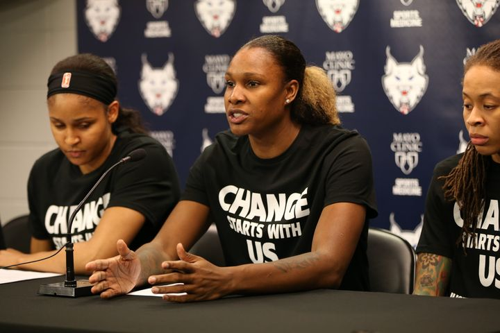 Lynx players delivered a powerful message on Saturday.
