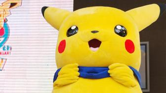 Picachu during Fans Gather in Bryant Park for The Pokemon Party of The Decade at Bryant Park in New York City, NY, United States. (Photo by Stephen Lovekin/WireImage)