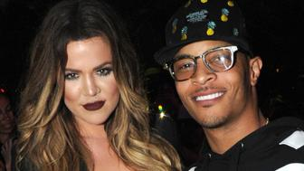BRONX, NY - JUNE 04:  Khloe Kardashian and T.I backstage during Jennifer Lopez's first ever hometown concert to launch State Farm Neighborhood Sessions on June 4, 2014 in Bronx, New York.  (Photo by Kevin Mazur/WireImage)