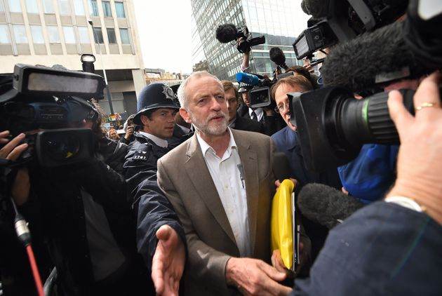 Corbyn on arrival at the