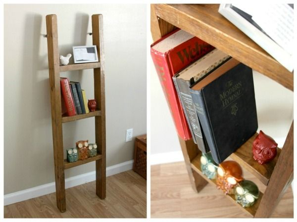 <i>Small ladders can fit storage in cramped spaces.</i>