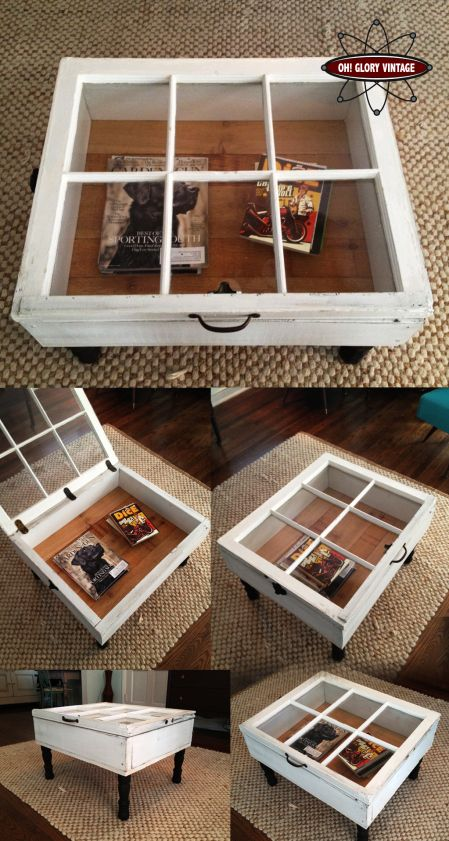 <i>Windows can be used as coffee table display cases.</i>