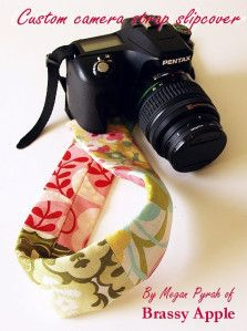 <i>Scrap fabric can be used to make a camera strap.</i>