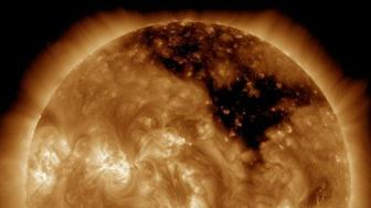NASA image of a hole in the sun.