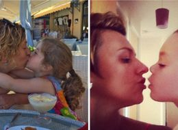 Parents Kiss Kids On The Lips In Support Of Victoria Beckham