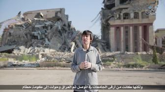 British journalist John Cantlie, kidnapped in November 2012 by hardline rebels in Syria, appears in an Islamic State propaganda video released on July 12.