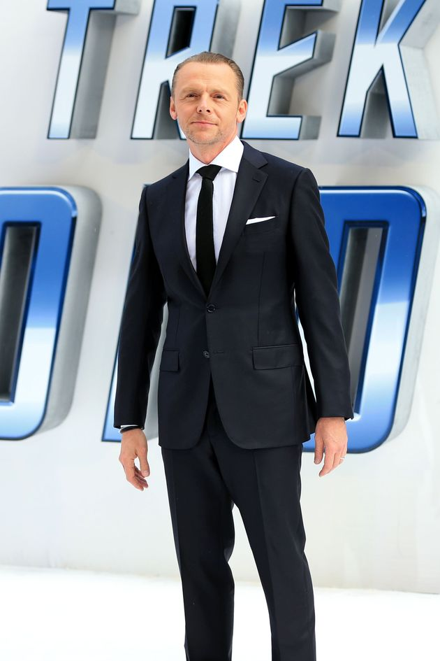 Simon Pegg at the 'Star Trek Beyond'