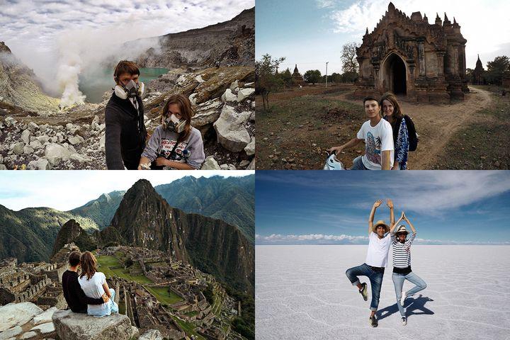 Java, Indonesia |&nbsp;Bagan, Myanmar,<br />Machu Picchu, Peru |&nbsp;Salar de Uyuni, Bolivia