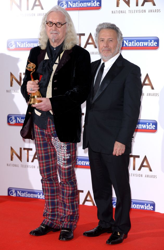 Billy with his great pal Dustin Hoffman at the NTAs earlier this