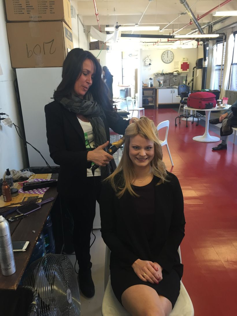 Danielle Grillo styling CNC client Malin Mumford for a photo shoot